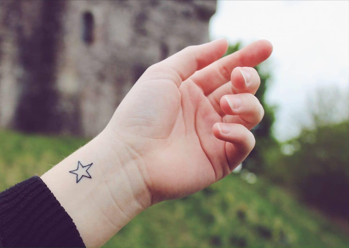 My first ever tattoo!   STAR